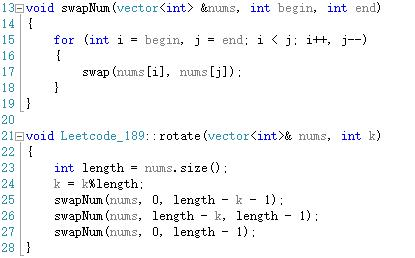 Leetcode_189 Rotate Array